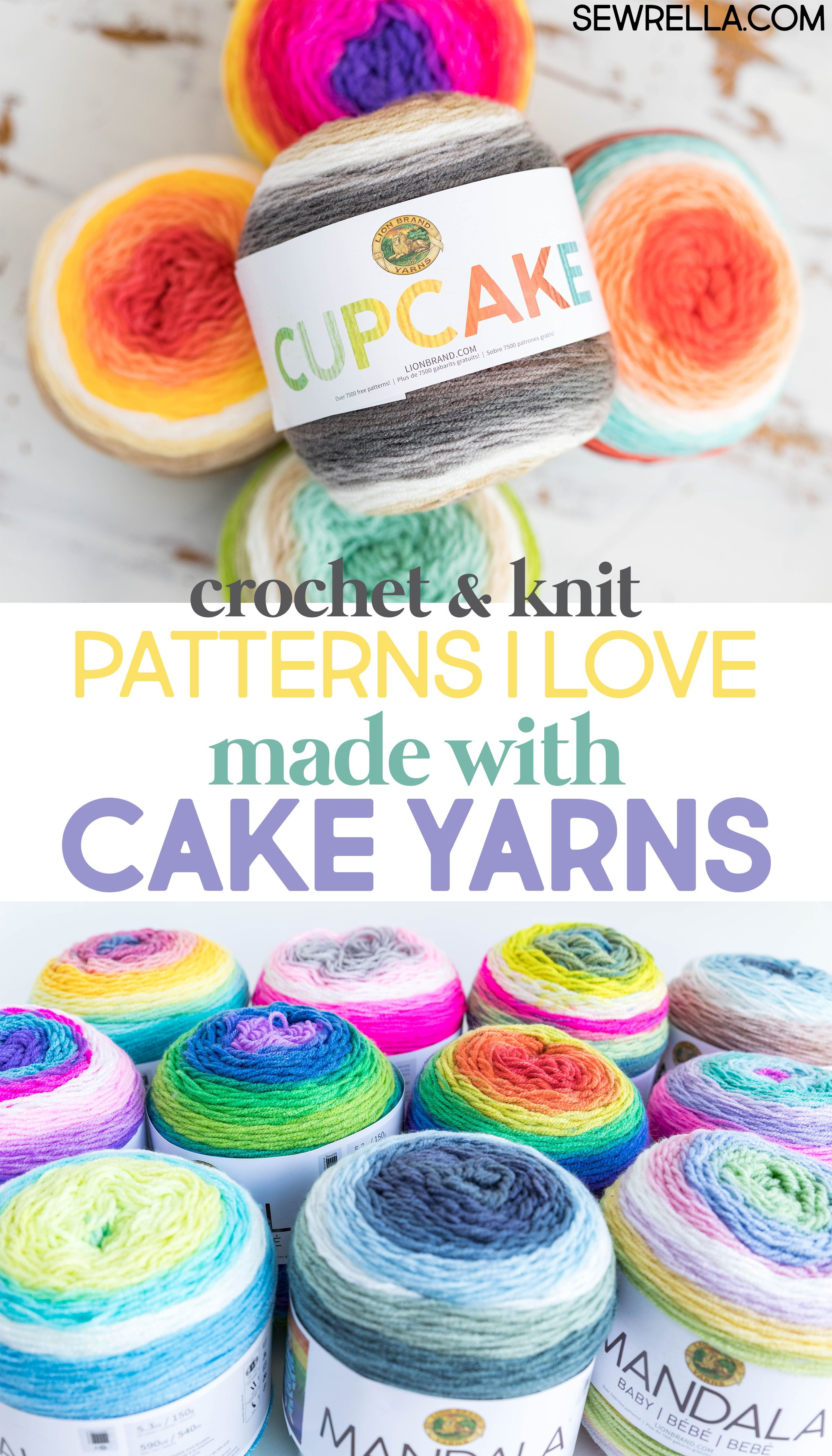 Knit and Crochet Patterns with Lion Brand Cake Yarns | Pinterest ...