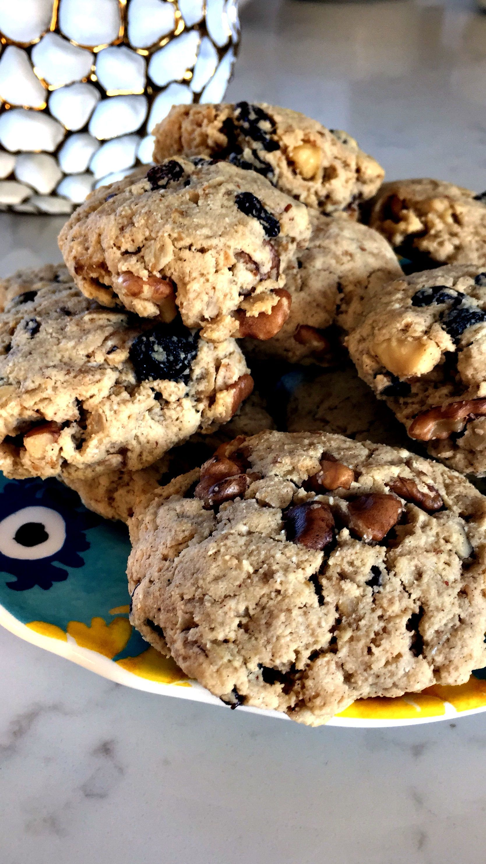 Gluten Free Oatmeal Walnut Spice Cookies Gluten free