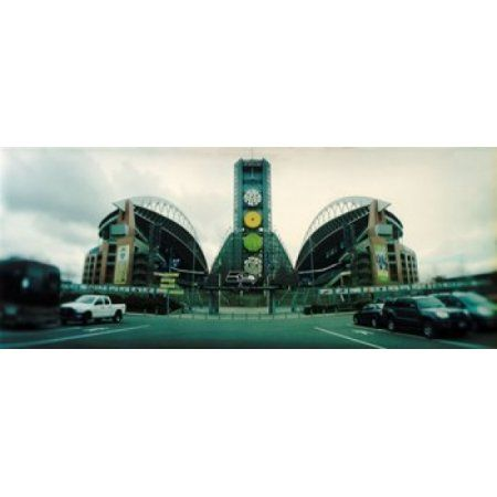 Facade of a stadium Qwest Field Seattle Washington State USA Canvas Art - Panoramic Images (15 x 6)