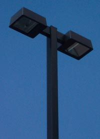 20 Square Straight Pole Double Fixture Light Package Commercial Lighting Fixtures Commercial Lighting Commercial Outdoor Lighting