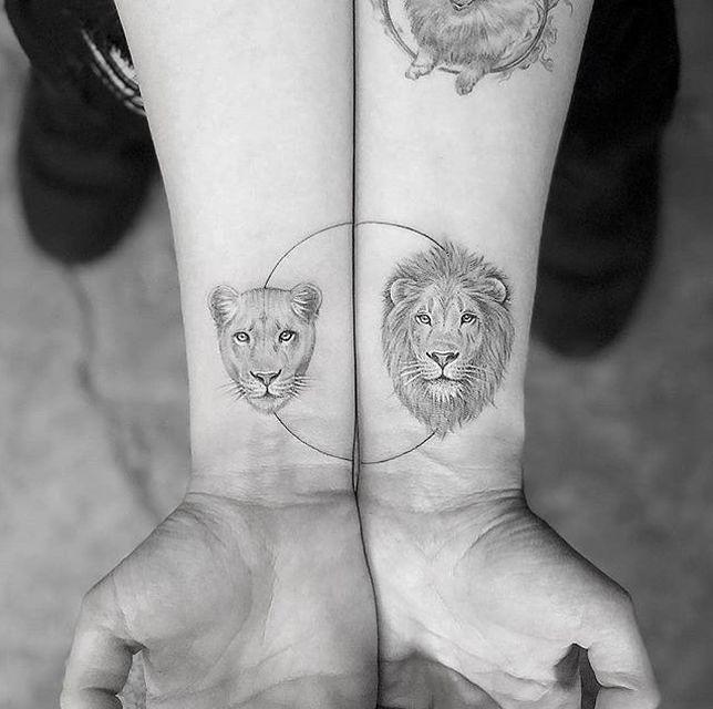 Tuschen Sie Ihre Liebe mit diesen kreativen Paartätowierungen -  - #tattooideen