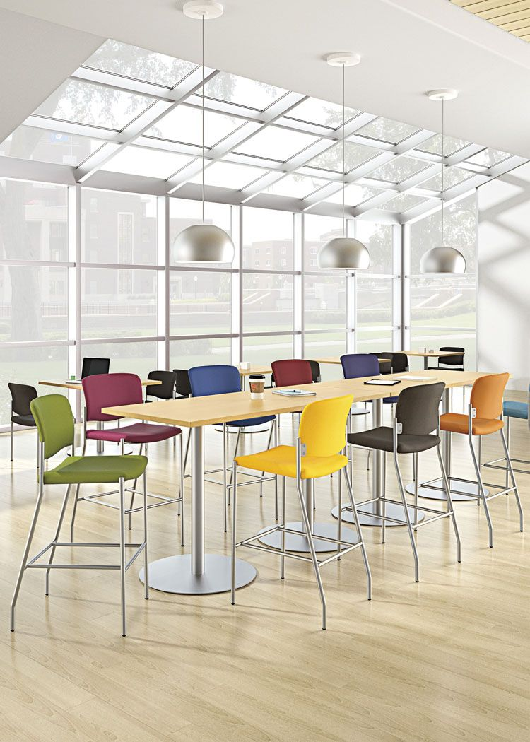 National Office Furniture Tag Stools In Collaborative Open E Area