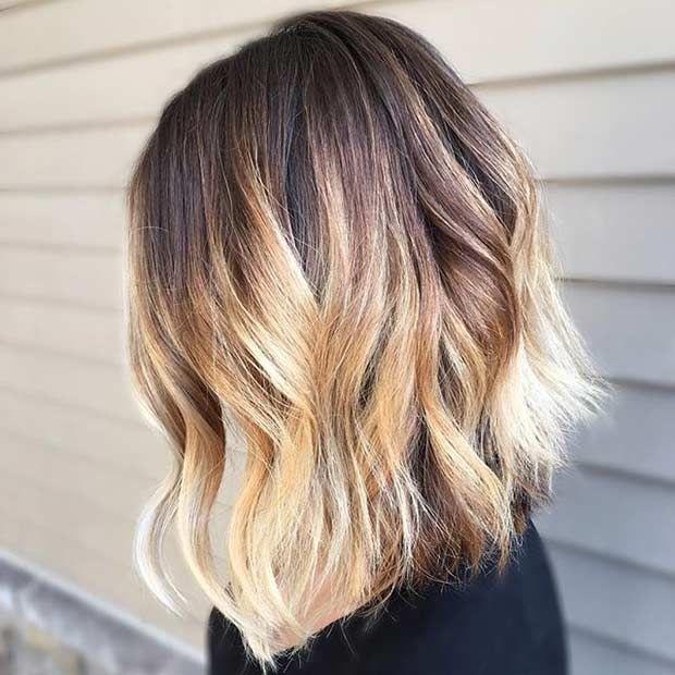 31 gorgeous long bob hairstyles lob cut blonde balayage. Black Bedroom Furniture Sets. Home Design Ideas