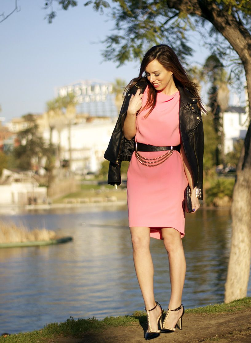 Sydne Style - coral and black