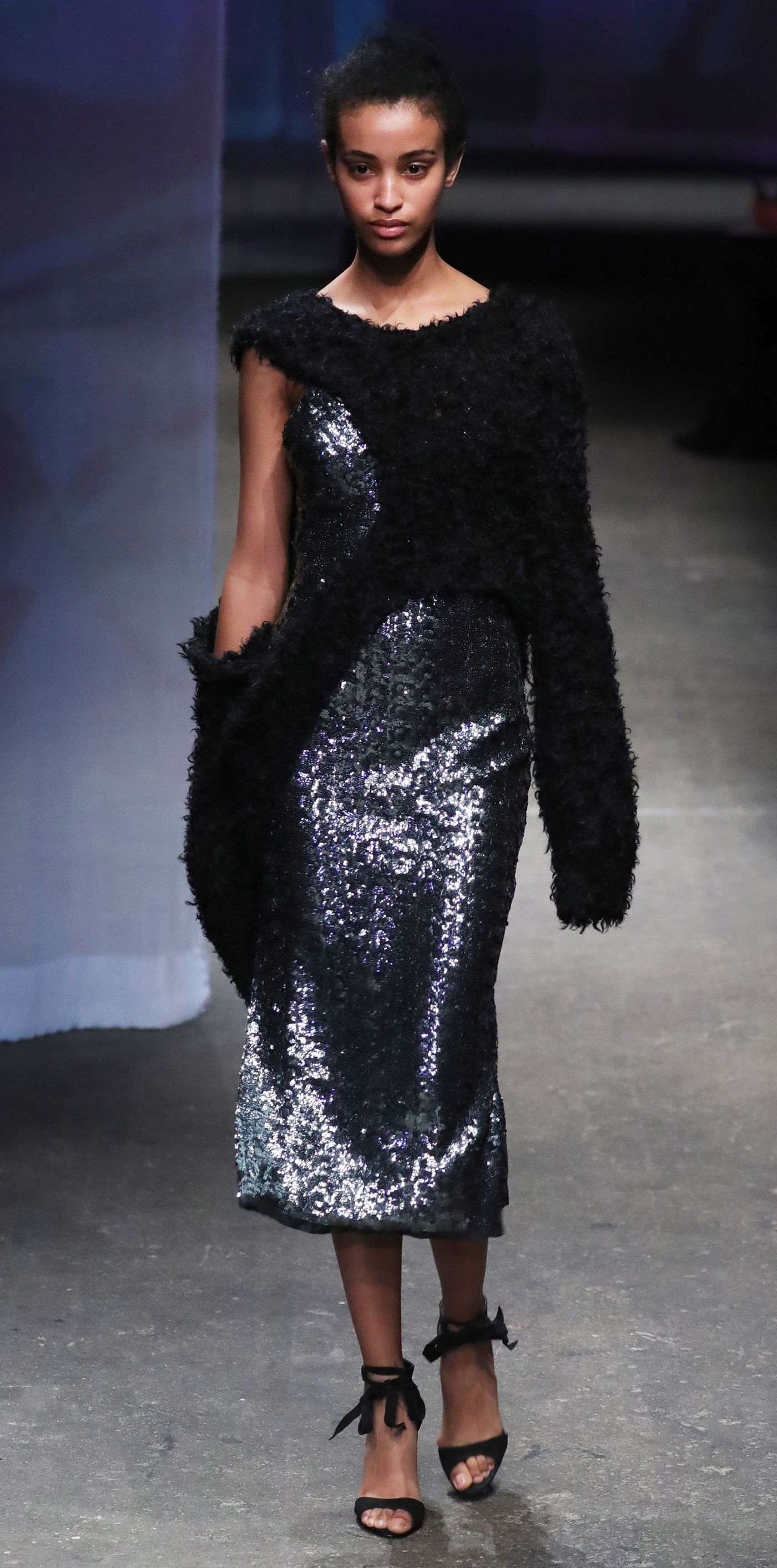 df4f82b37af Beautiful Black Models on the Runway at New York Fashion Week - Milly from  InStyle.com
