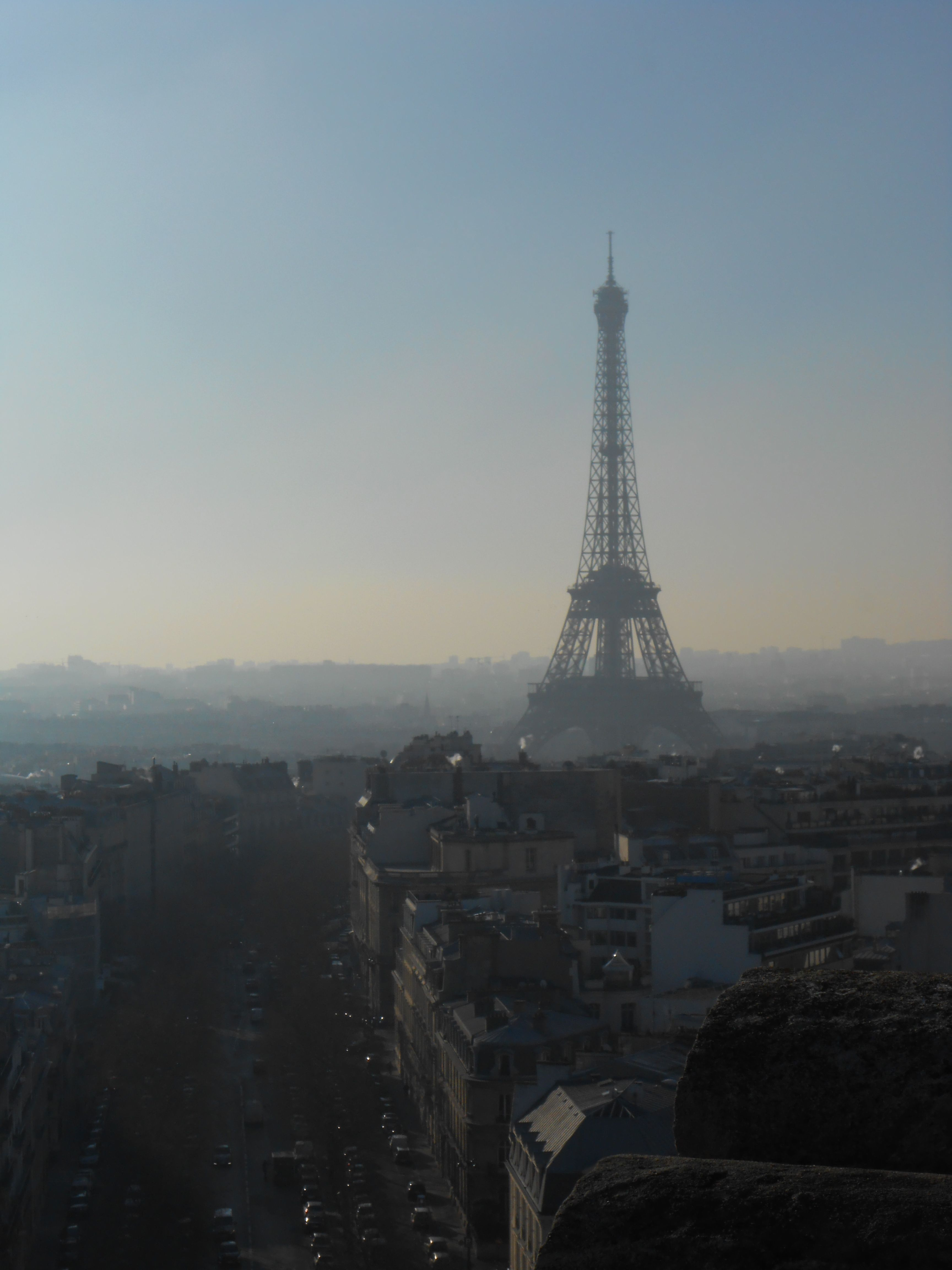 View from the top of the Arc de Triomphe