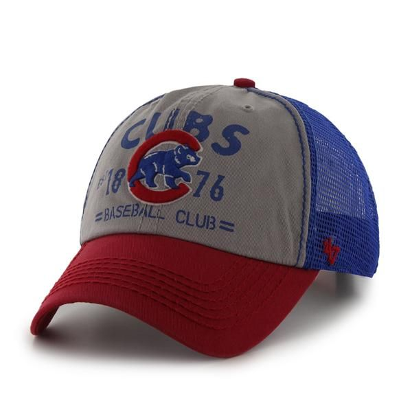 abf51838795 Chicago Cubs  Crawling Bear  Flathead Adjustable Cap by  47