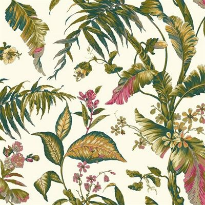 York Wallcoverings AT709 Ashford House Tropics Fiji Garden Removable Wallpaper