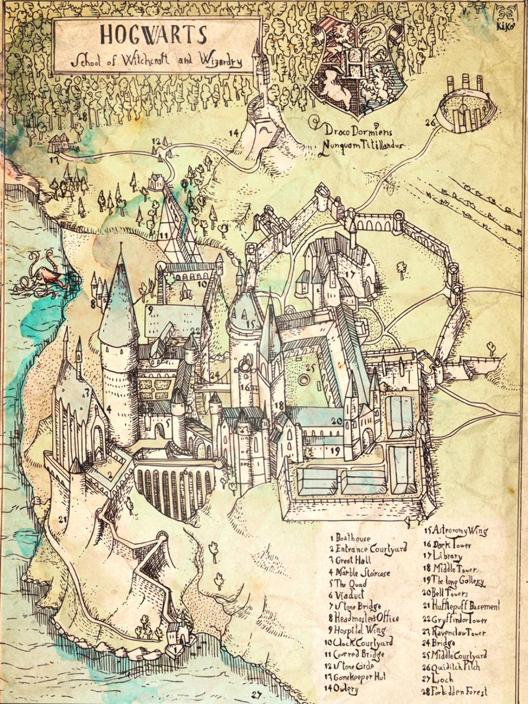Diese Karte Der Hogwarts Schule Fur Hexerei Und Zauberei Von Harry Potter 26 Karten Von Fiktive Harry Potter Printables Harry Potter Crafts Harry Potter Diy