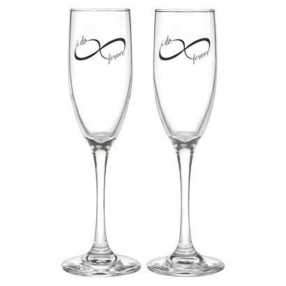 Infinity Wine Glasses Wedding Gift by VintagenRusticDecor