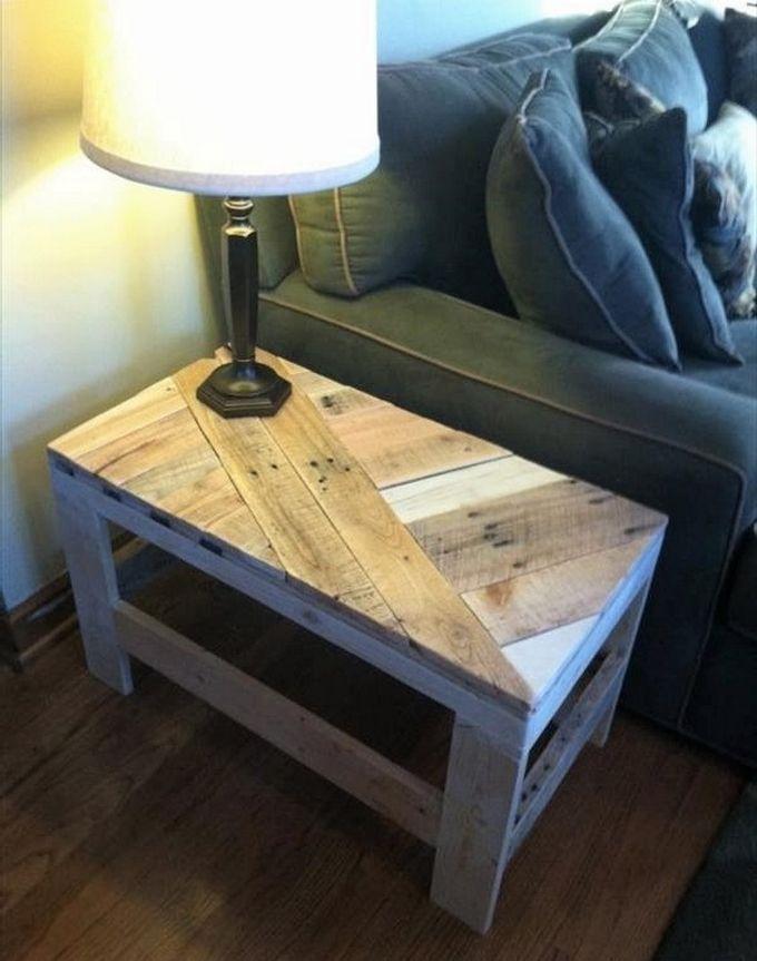 Diy Wooden Pallet Side Lamp Table Design Furniture Ideas Pallets