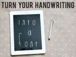 jones design company | create . decorate . celebrate turn your handwriting into a font