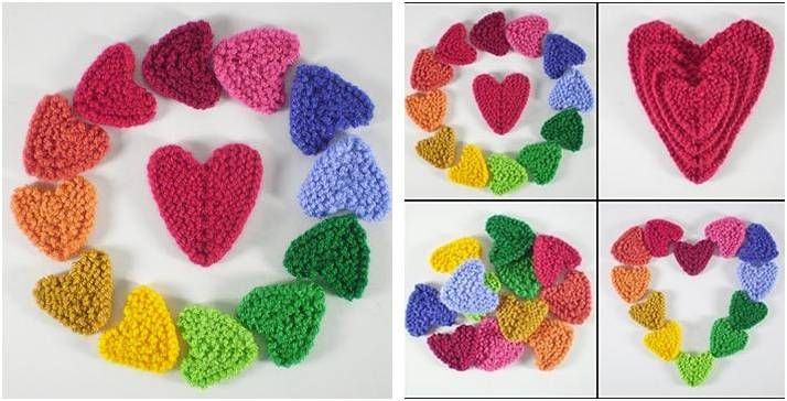 Sweet N Lovely Knitted Hearts Free Knitting Pattern My Crafts
