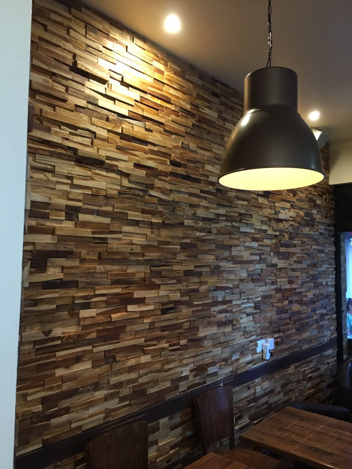 Wooden Split Face Tiles Wall Cladding Only 3499 Per