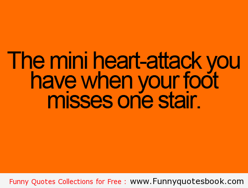 Get A Mini Heart Attack When You Fall Funny Quotes Funny