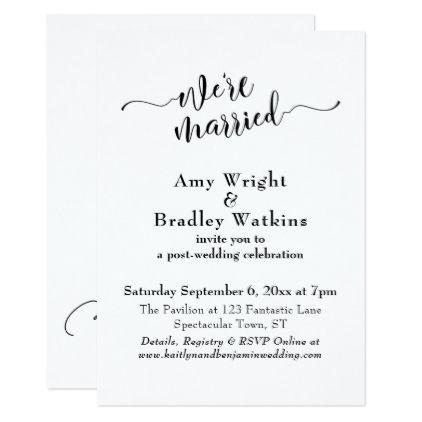 Subtle elegant typography post wedding celebration card wedding subtle elegant typography post wedding celebration card wedding invitations cards custom invitation card design marriage stopboris Gallery