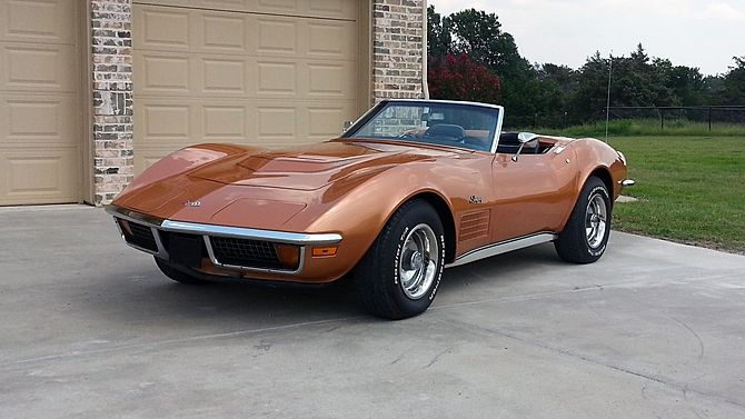 1972 Chevrolet Corvette Lt1 Convertible 4 Speed Protect O Plate