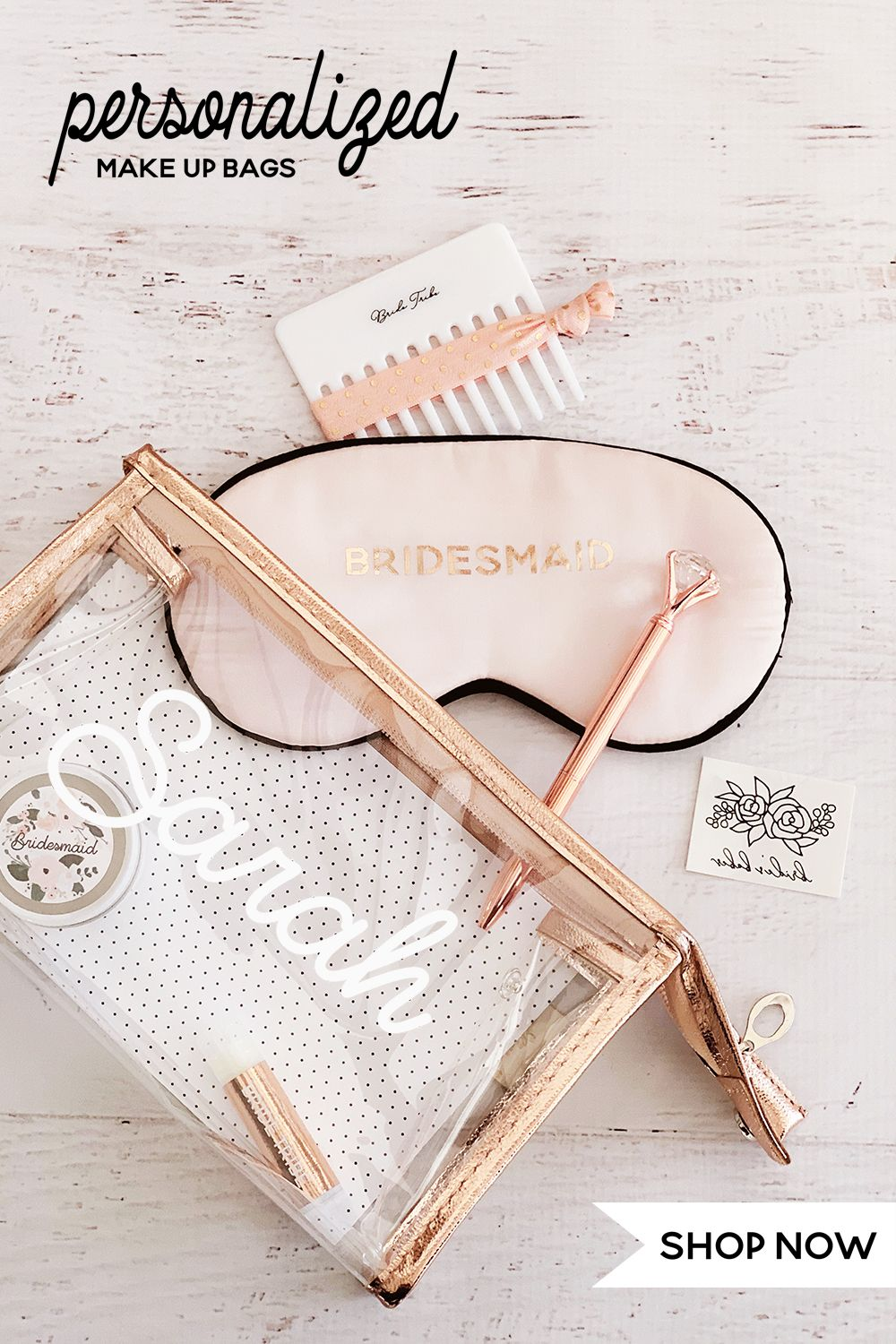 Metallic Makeup Bags Personalized in 2020 Makeup bag