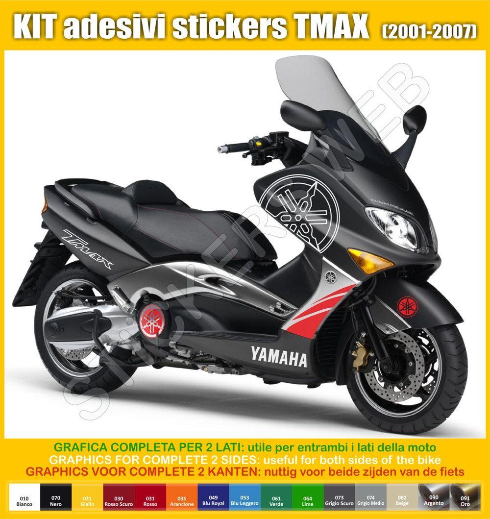 stickers moto motorcycle yamaha tmax 2001 2007 t max vinyl decal graphic honda. Black Bedroom Furniture Sets. Home Design Ideas