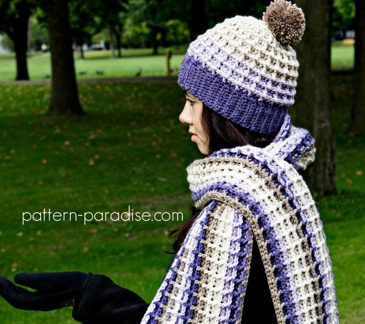 free crochet pattern alpine nights beanie by pattern paradise made in caron cakes lilac frosting - Hakelmutzen Muster