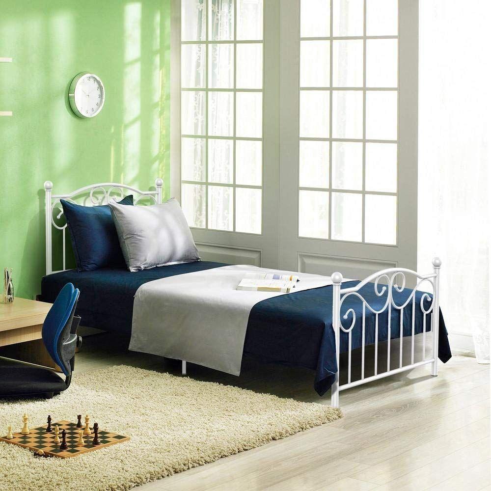Amazon Single Metal Bed Frame Twin Size Just 47 99 W Code Reg
