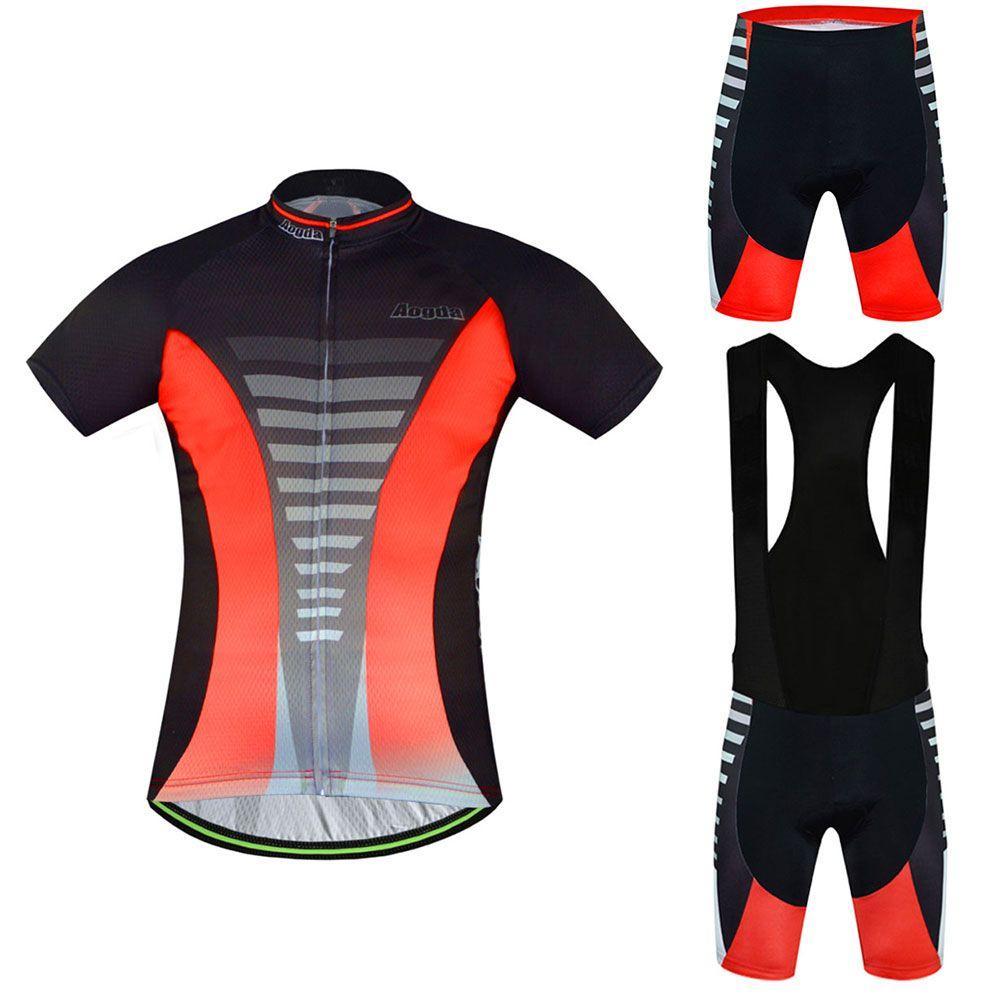 Men/'s Cycling Clothing Kit Reflective Long Sleeve Cycle Jersey /& Bib Tights Set