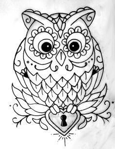 Pin Oleh Annisa Murthafiah Di Owl Sketsa Sketsa Owl Dan Stensil