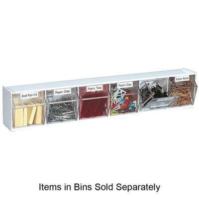 Deflecto Interlocking 6-Compartment Tip-Out Bin
