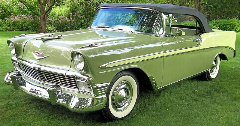 1956 Chevrolet Bel Air Convertible – Crocus Yellow and Laurel Green