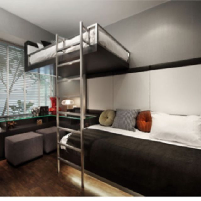 Free Floating Bed Modern Bunk Beds Bunk Bed Designs Loft Spaces