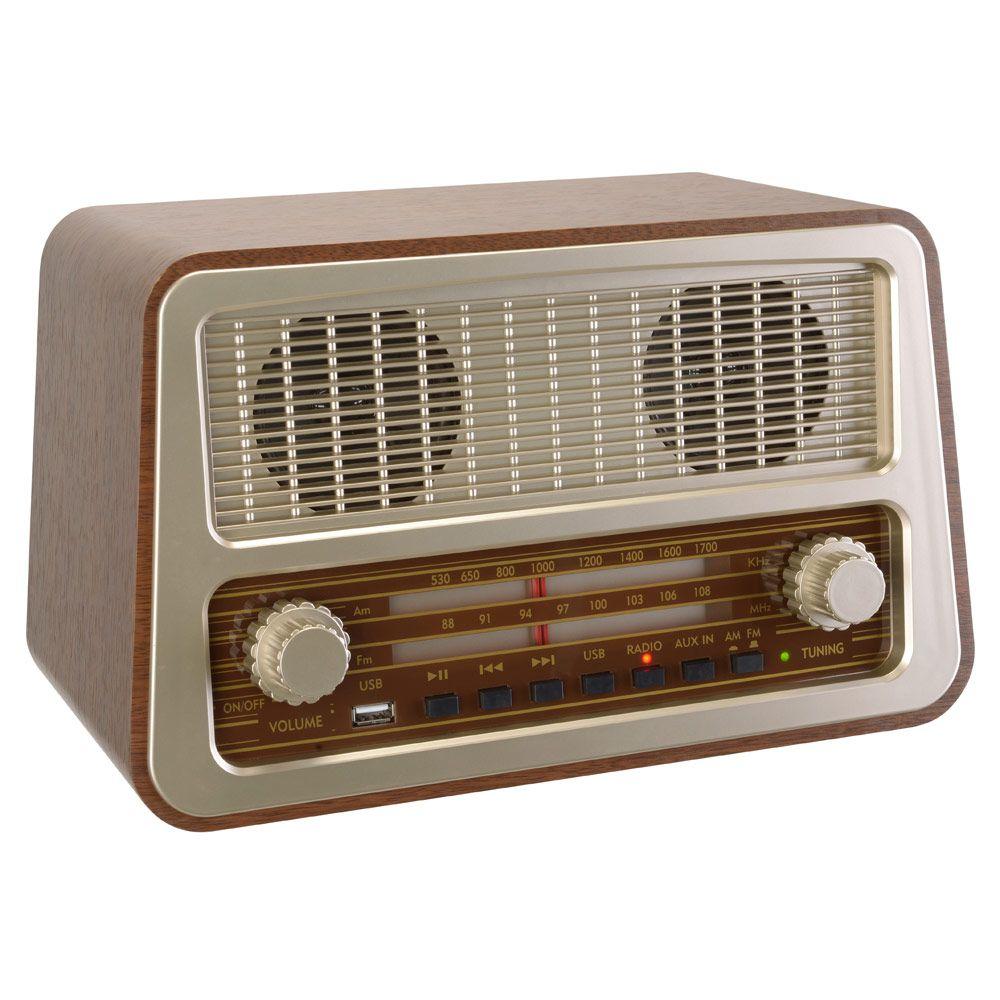 Radio 50 S Design Retro Tuner Analogique Lecteur Mp3 Prise Usb Antieke Radio Radio S Retro