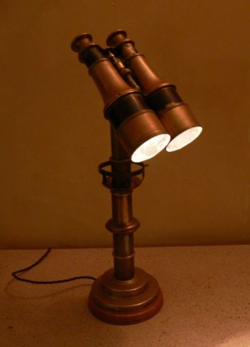 Unique Desk light made from antique binoculars. Upcycled/steampunk/Victorian. | eBay