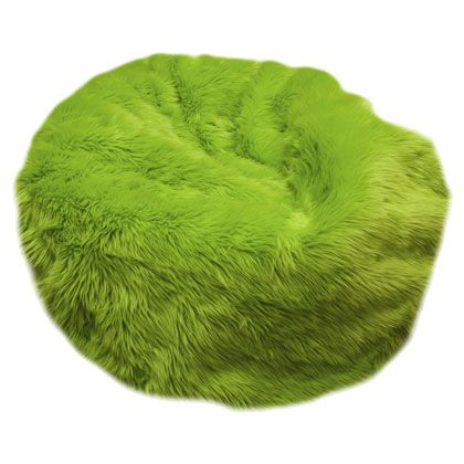 Swell Fuzzy Fur Lime Green Bean Bag Chair In 2019 Bean Bag Chair Ocoug Best Dining Table And Chair Ideas Images Ocougorg