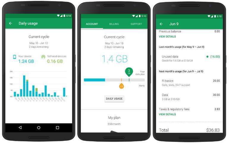 Projeto Fi do Google Para Android