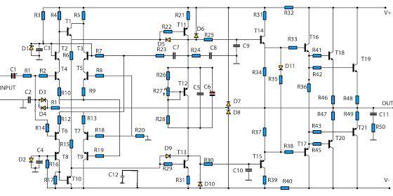 High Power Audio Amplifier 2800W
