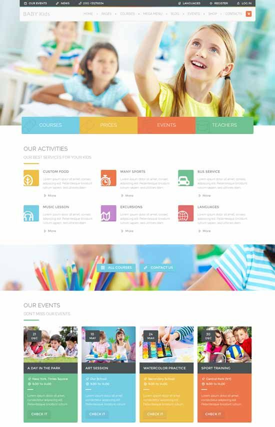 70 Best Education Website Templates Free Premium Education Wordpress Themes School Site Education Website Templates