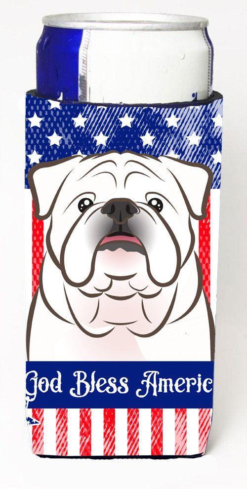 White English Bulldog Michelob Ultra Koozies for slim cans BB2150MUK