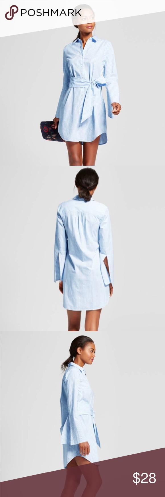 Nwt A New Day Pinstripe Shirt Dress Clothes Design Pinstripe A New Day [ 1740 x 580 Pixel ]