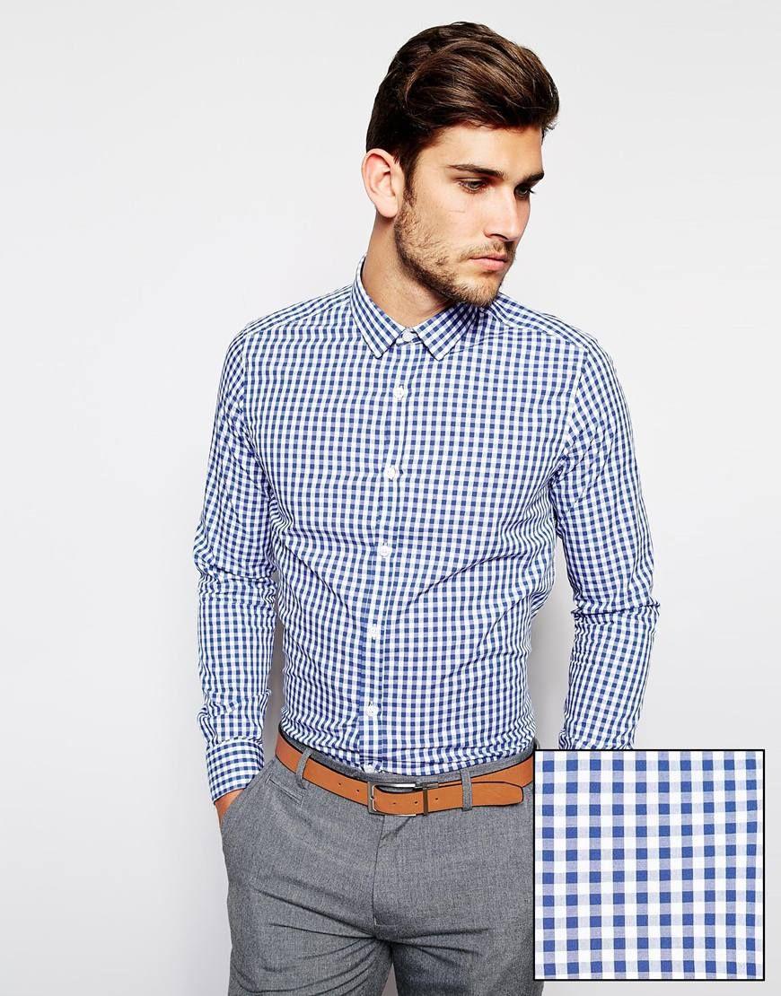 Camisa de cuadros + pantalón formal