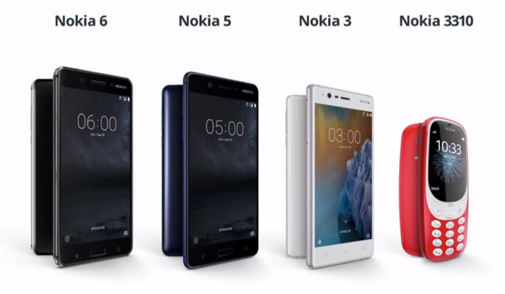 Nokia takes the wraps off of the Nokia 5, 3, and 3310