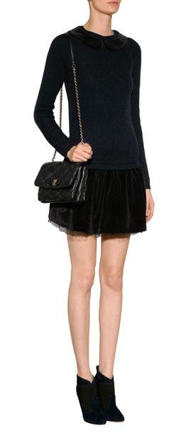 RED VALENTINO Velvet Detailed Sweater Dress  #Stylebop