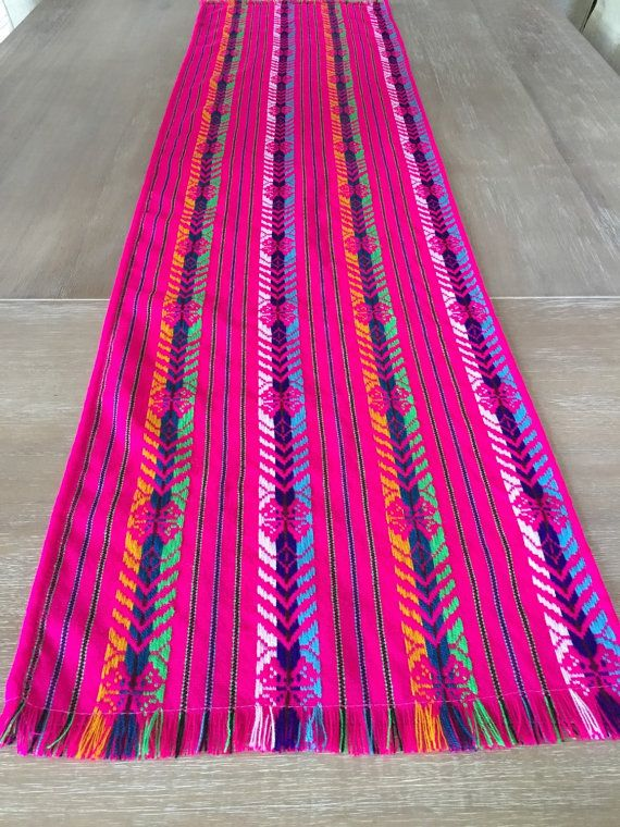 Mexican Fabric Table Runner Aztec Pink Custom Placemats