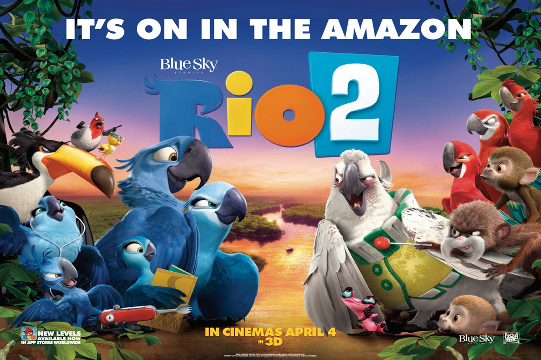 Box OfficeRio 2 birds with jungle fever New animation