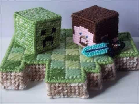 How To Make Plastic Canvas Minecraft Creeper Plastic Canvas