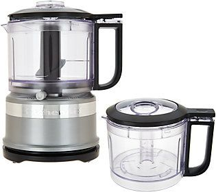 KitchenAid 3.5-Cup One-Touch 2-Speed Chopper with Extra Bowl