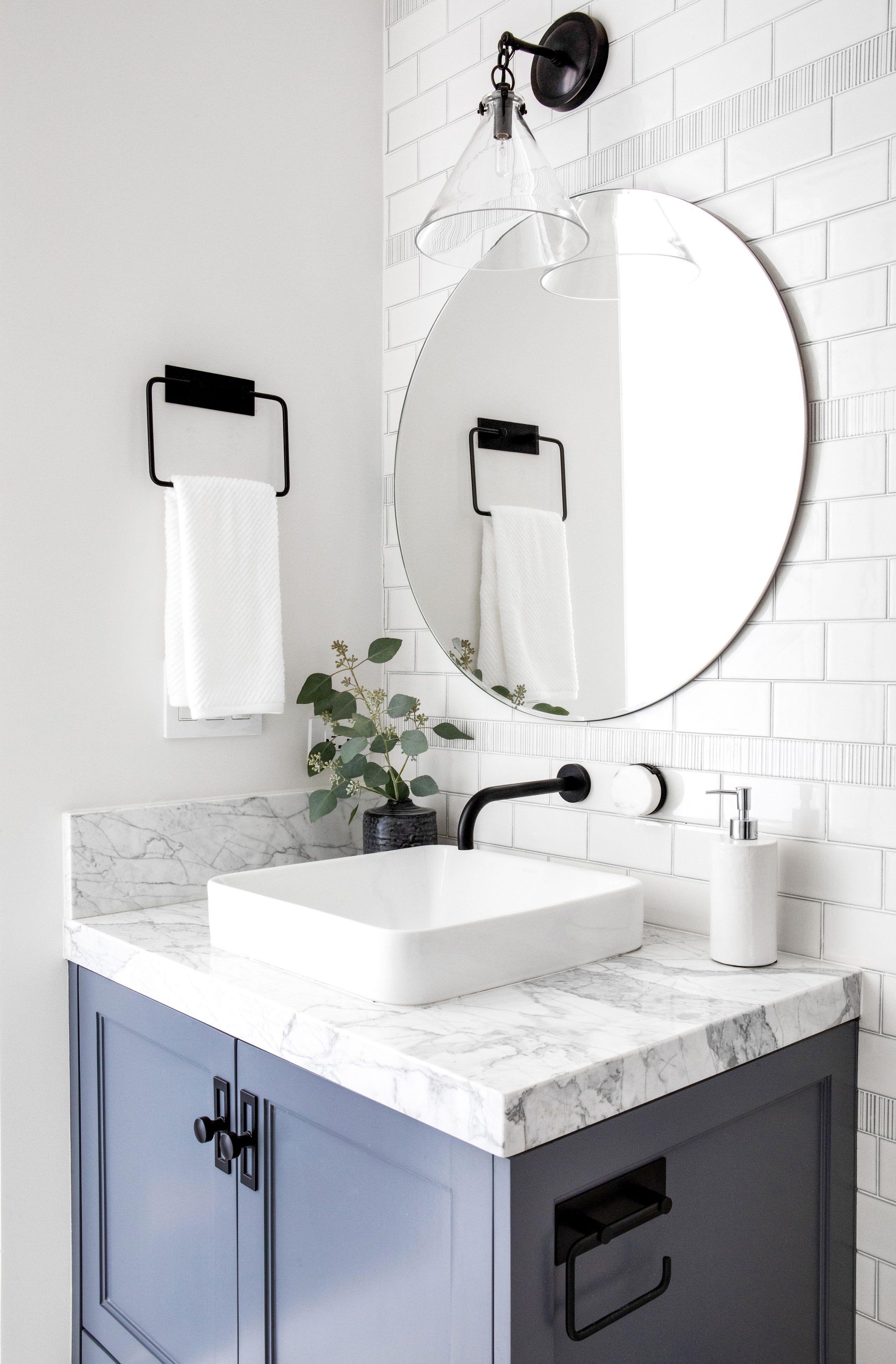 Pin On Serendipite Portfolio Modern colorful bathroom vanities