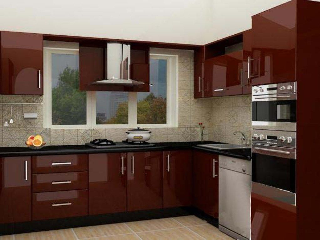 image result for maroon color kitchen cabinets - Custom Kitchen Cabinets Prices
