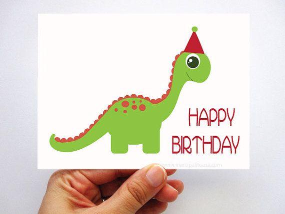 dino birthday card cute green dinosaur birthday card a435