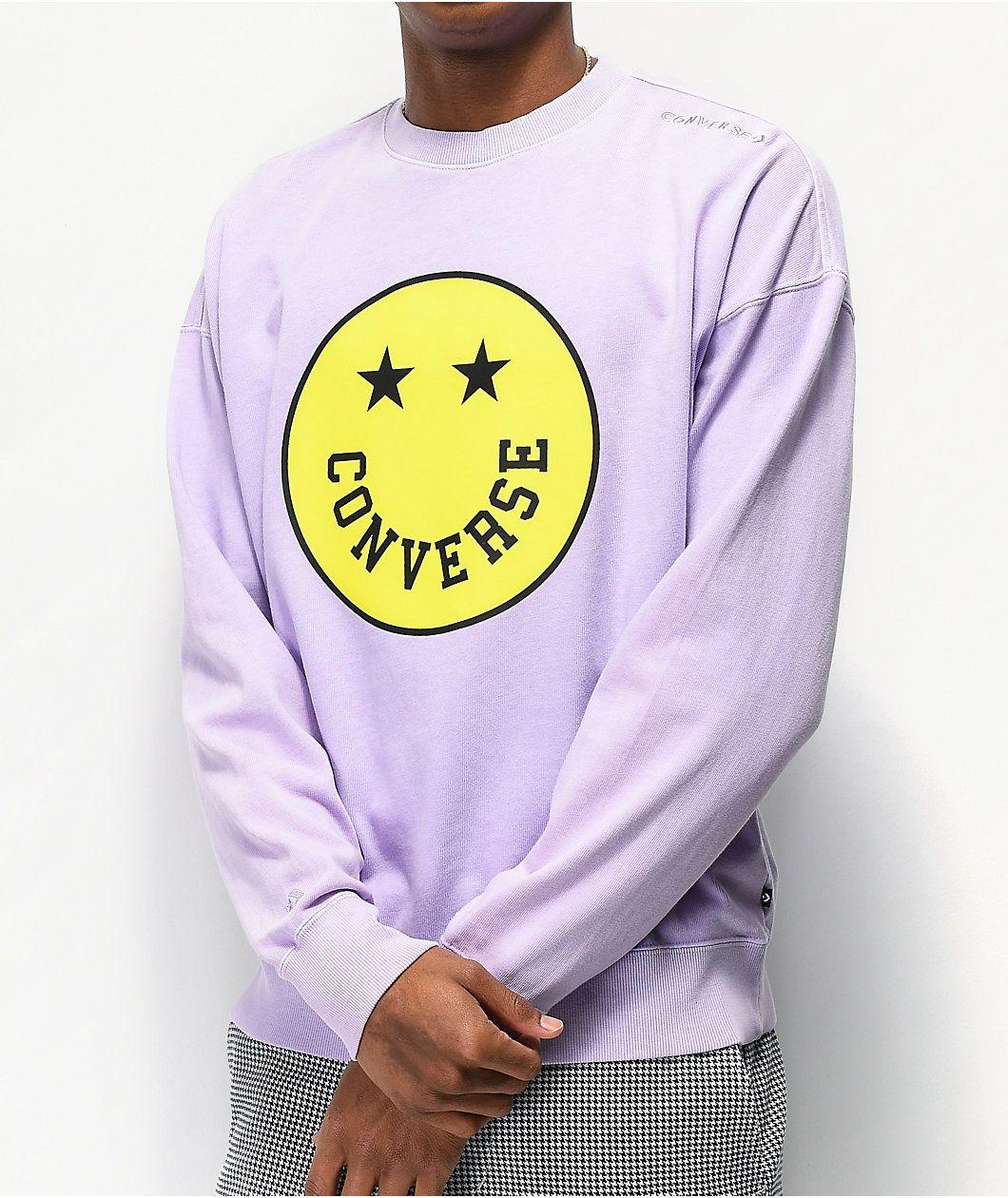 Converse Utility Violet Crew Neck Sweatshirt Zumiez Crew Neck Sweatshirt Sweatshirts Crew Neck [ 1260 x 1060 Pixel ]