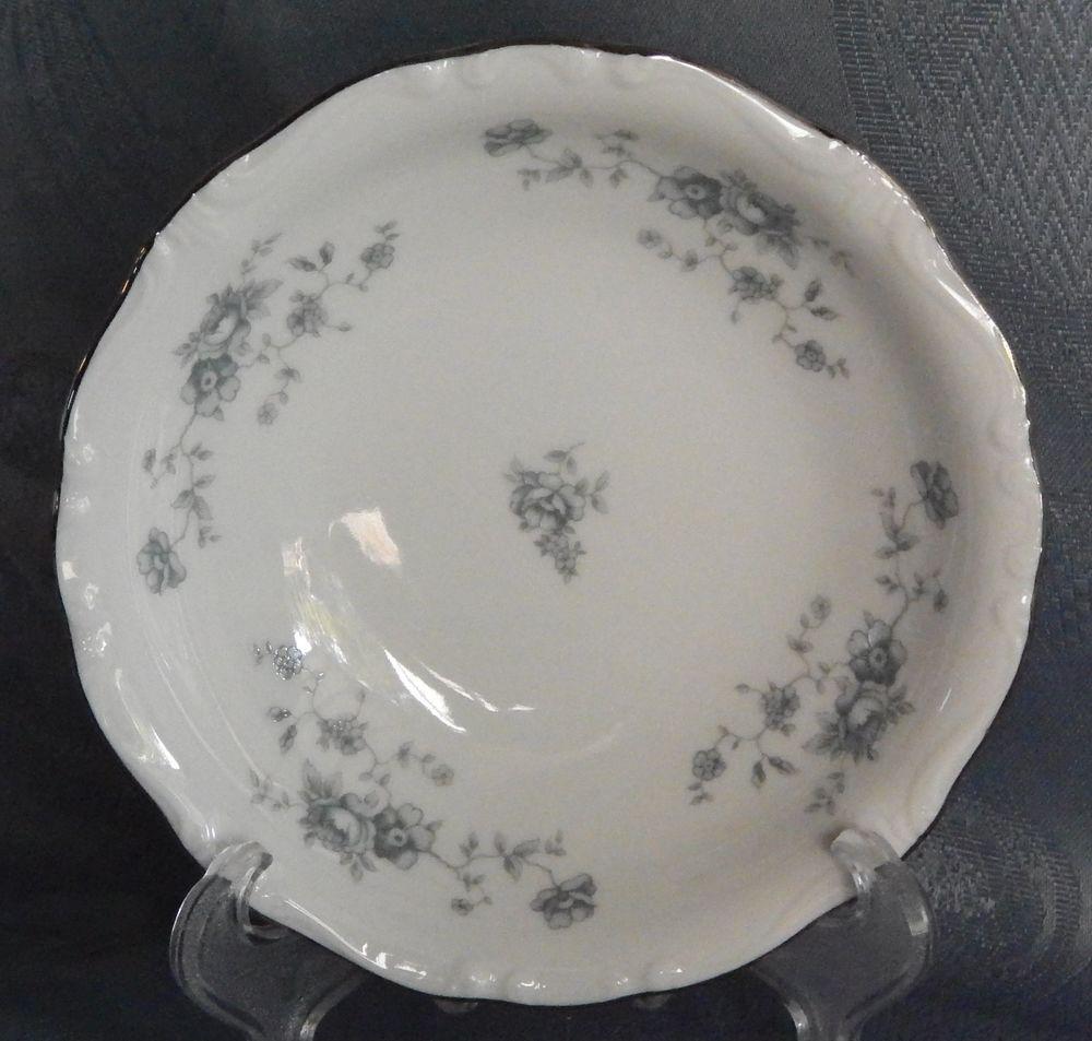 Johann Haviland Blue Garland Germany. Bavaria Dessert Bowls / Berry Bowls White #JohannHaviland